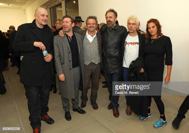 Jake Chapman Mat Collishaw Mark Hix Keith Tyson Tim Noble Tracey Emin attend the Private View of 'Sticks with Dicks and Slits' by Tim Noble and Sue...