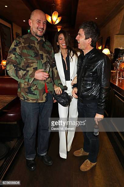 Jake Chapman Sara Macdonald and Noel Gallagher attend the Kent Curwen dinner with Mr Porter at Little Social on November 16 2016 in London England