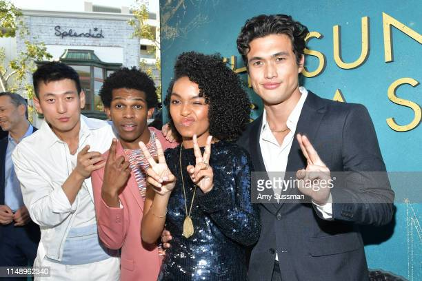Jake Choi Camrus Johnson Yara Shahidi and Charles Melton attend the world premiere of The Sun Is Also A Star at Pacific Theaters at the Grove on May...