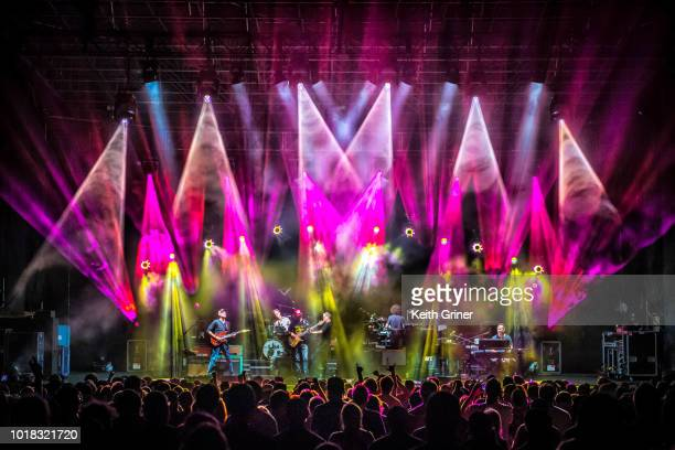 Jake Cinninger Kris Myers Ryan Stasik Andy Farag Brendan Bayliss Joel Cummins of Umphrey's McGee at The Lawn at White River State Park on August 11...