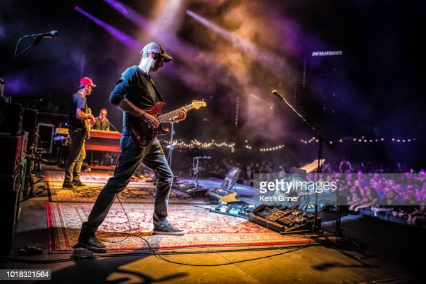 Jake Cinninger of Umphrey's McGee performs at The Lawn at White River State Park on August 11 2018 in Indianapolis Indiana