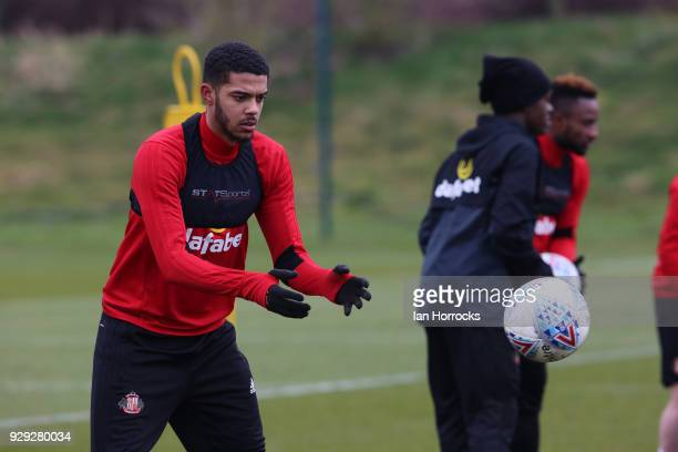 Jake ClarkeSalter during a Sunderland training session at The Academy of Light on March 8 2018 in Sunderland England