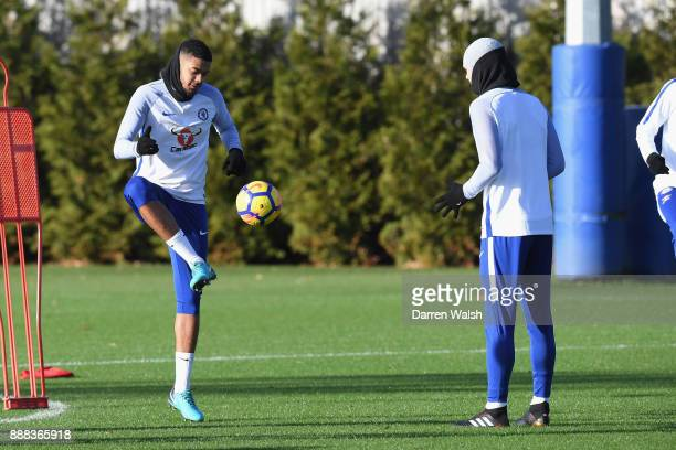 Jake ClarkeSalter of Chelsea during a training session at Chelsea Training Ground on December 8 2017 in Cobham England