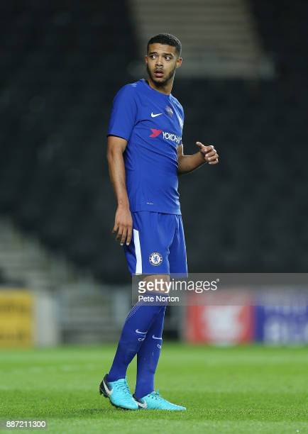 Jake ClarkeSalter of Chelsea in action during the Checkatrade Trophy Second Round match between Milton Keynes Dons and Chelsea U21vat StadiumMK on...