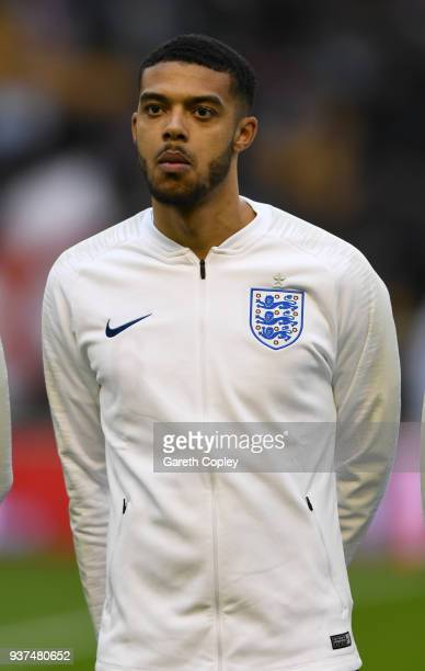 Jake ClarkeSalter of England during the International Friendly between England U21 and Romania U21 at Molineux on March 24 2018 in Wolverhampton...