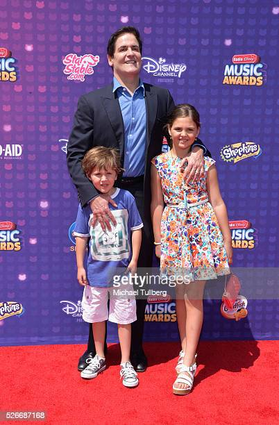 Jake Cuban businessman Mark Cuban and Alyssa Cuban attend the 2016 Radio Disney Music Awards at Microsoft Theater on April 30 2016 in Los Angeles...