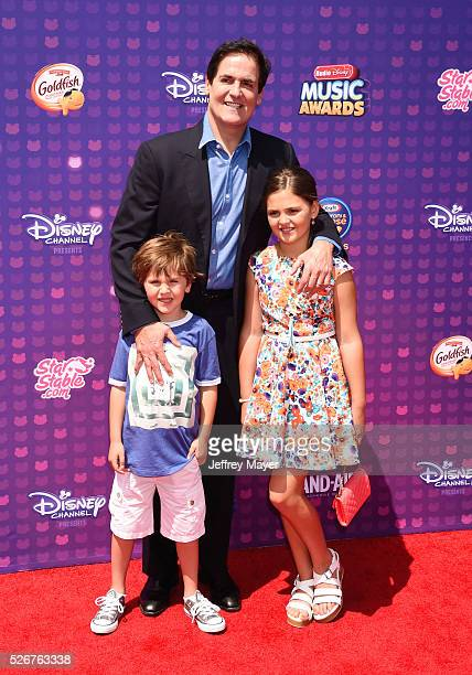 Jake Cuban businessman Mark Cuban and Alyssa Cuban attend the 2016 Radio Disney Music Awards at the Microsoft Theater on April 30 2016 in Los Angeles...