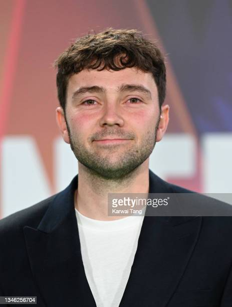 """Jake Davies attends """"The Phantom Of The Open"""" World Premiere during the 65th BFI London Film Festival at The Royal Festival Hall on October 12, 2021..."""