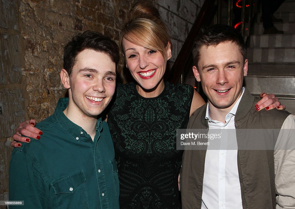 Jake Davies, Suranne Jones and Danny-Boy Hatchard attend the 'Beautiful Thing' press night after party at Salvador and Amanda on April 17, 2013 in London, England.