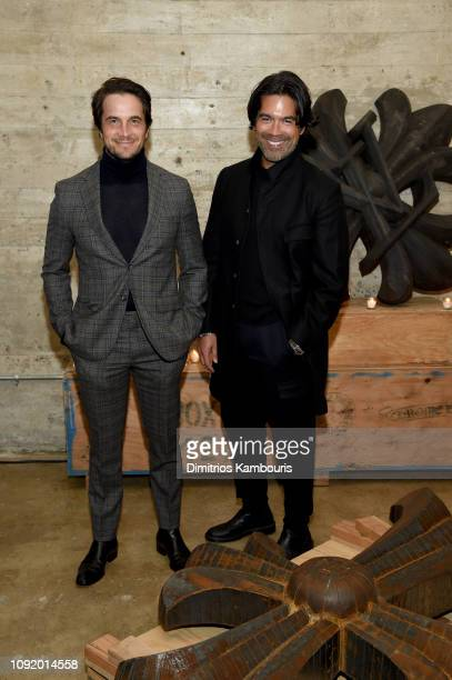 Jake Deutsch and Brian Atwood attend the Louis Vuitton Dinner Mens SS19 Temporary Residency on January 09 2019 in New York City