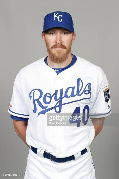 Jake Diekman of the Kansas City Royals poses during Photo Day on Thursday February 21 2019 at Surprise Stadium in Surprise Arizona