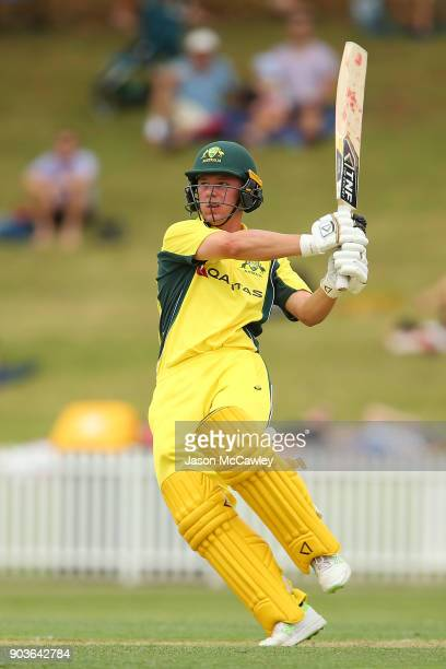 Jake Doran of CA XI bats during the One Day Tour Match between the Cricket Australia XI and England at Drummoyne Oval on January 11 2018 in Sydney...
