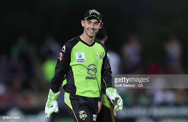 Jake Doran of the Thunder smiles during the Twenty20 Border Bash match between the Melbourne Stars and the Sydney Thunder at Lavington Sports Ground...