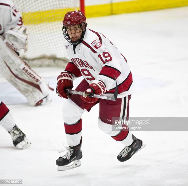 Jake Drury of the Harvard Crimson skates against the Boston University Terriers during NCAA hockey at The BrightLandry Hockey Center on January 8...