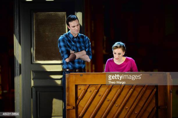 Jake Epstein and Jessie Mueller from 'BEAUTIFUL The Carole King Musical' perform onstage during the 68th Annual Tony Awards at Radio City Music Hall...