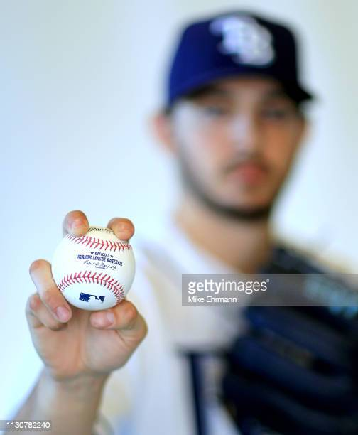 Jake Faria of the Tampa Bay Rays poses for a portrait during photo day on February 17 2019 in Port Charlotte Florida