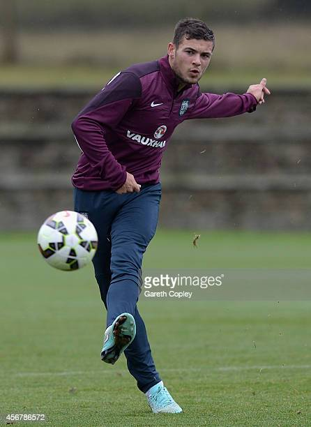 Jake ForsterCaskey of England during an England Under 21 training session at St Georges Park on October 7 2014 in BurtonuponTrent England