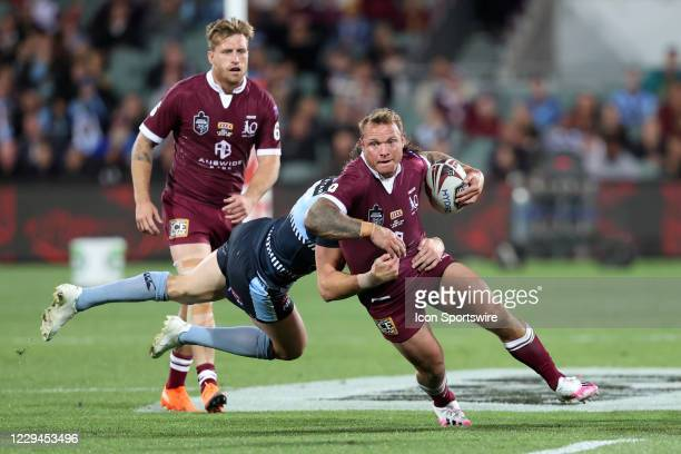 Jake Friend of the QLD Maroons during game one of the 2020 State of Origin series between the Queensland Maroons and New South Wales Blues at the...
