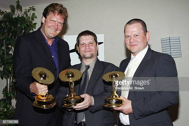 Jake Garber Matt Rose and Mike Elizalde were honored during the 31st Annual Saturn Awards at the Universal Hilton Hotel on May 3 2005 in Los Angeles...