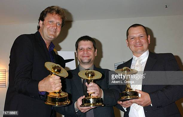 Jake Garber Matt Rose and Mike Elizalde winners for Best Makeup for 'Hellboy' at the Universal Hilton Hotel in Universal City California