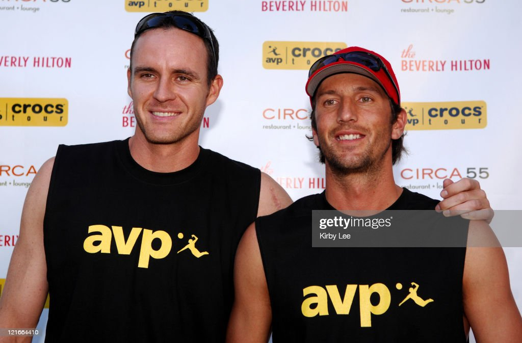 Jake Gibb and Sean Rosenthal at the 2007 AVP Crocs Tour Launch Party at the Beverly Hilton in Beverly Hills, Calif. on Thursday, March 29, 2007.