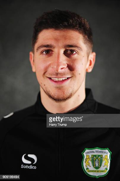 Jake Gray of Yeovil Town poses for a photograph during the Yeovil Town media access day at Huish Park on January 23 2018 in Yeovil England