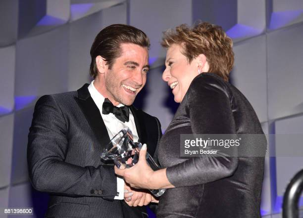 Jake Gyllenhaal and CEO President UNICEF USA Caryl M Stern attend 13th Annual UNICEF Snowflake Ball 2017 at Cipriani Wall Street on November 28 2017...