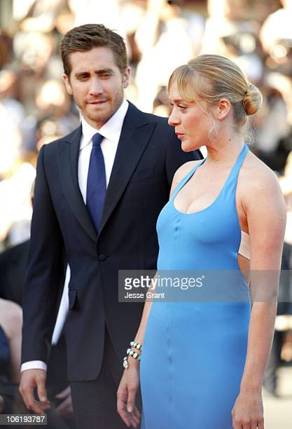 Jake Gyllenhaal and Chloe Sevigny during 2007 Cannes Film Festival Zodiac Premiere at Palais de Festival in Cannes France