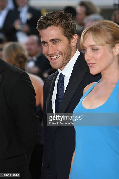 Jake Gyllenhaal and Chloe Sevigny during 2007 Cannes Film Festival 'Zodiac' Premiere at Palais de Festival in Cannes France