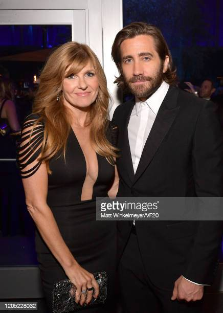 Jake Gyllenhaal and Connie Britton attend the 2020 Vanity Fair Oscar Party hosted by Radhika Jones at Wallis Annenberg Center for the Performing Arts...