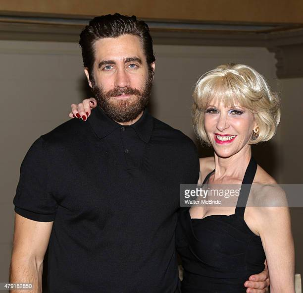 Jake Gyllenhaal and Ellen Greene attend the Opening Night After Party for the New York City Center Encores OffCenter production of 'Little Shop of...