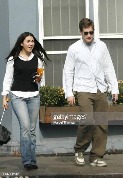 Jake Gyllenhaal and guest during Jake Gyllenhaal and Maggie Gyllenhaal Sightings in New York City October 20 2006 in New York City New York United...