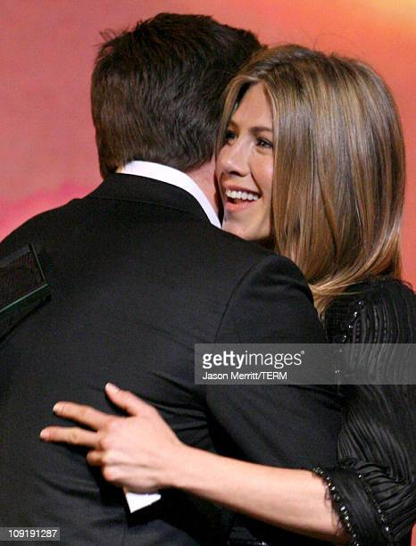 Jake Gyllenhaal and Jennifer Aniston during 18th Annual GLAAD Media Awards Show at Kodak Theatre in Hollywood California United States