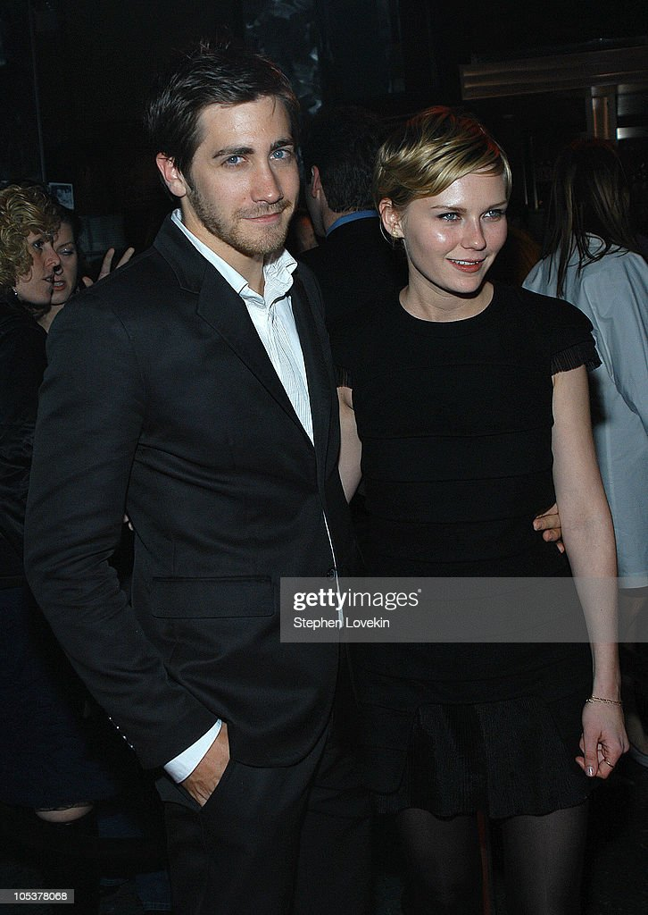 Jake Gyllenhaal and Kirsten Dunst during A Work In Progress: An Evening With Sofia Coppola - After Party Arrivals at Metronome in New York City, New York, United States.