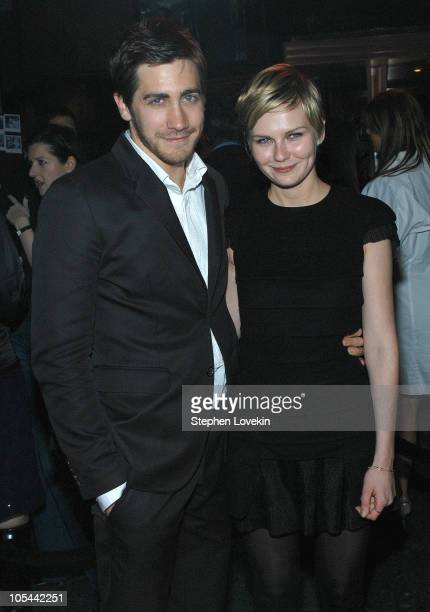 Jake Gyllenhaal and Kirsten Dunst during A Work In Progress: An Evening With Sofia Coppola - After Party Arrivals at Metronome in New York City, New...