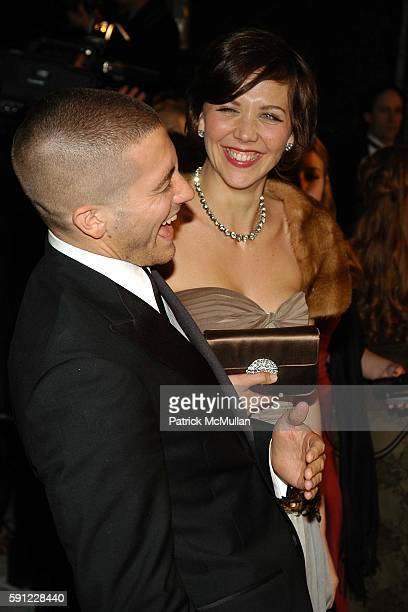 Jake Gyllenhaal and Maggie Gyllenhaal attend Vanity Fair Oscar Party at Morton's Restaurant on February 27 2005 in Los Angeles California