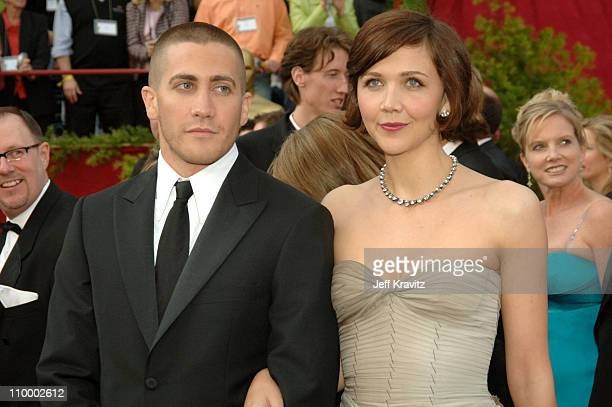 Jake Gyllenhaal and Maggie Gyllenhaal during The 77th Annual Academy Awards - Arrivals at Kodak Theatre in Los Angeles, California, United States.