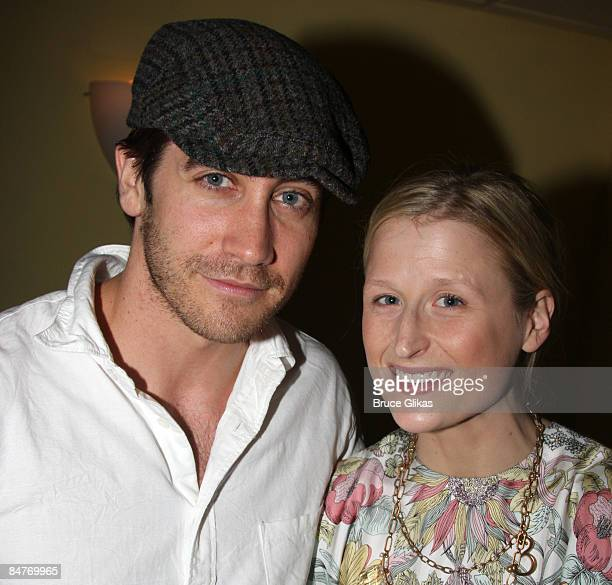 Jake Gyllenhaal and Mamie Gummer attend the after party for the offbroadway opening night of Uncle Vanya at Pangea on February 12 2009 in New York...