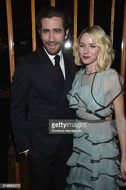 Jake Gyllenhaal and Naomi Watts attend Fox Searchlight Pictures with The Cinema Society host a screening of Demolition after party on March 21 2016...