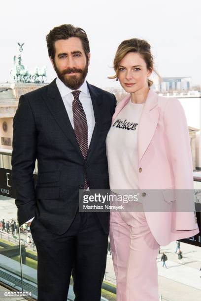 Jake Gyllenhaal and Rebecca Ferguson attend the 'LIFE' Photo Call In Berlin at Akademie der Kuenste on March 14 2017 in Berlin Germany