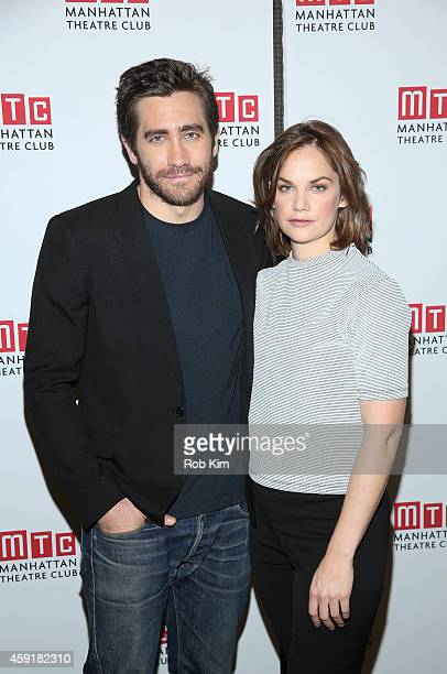 Jake Gyllenhaal and Ruth Wilson attend Constellations Press Preview at Manhattan Theatre Club Rehearsal Studios on November 18 2014 in New York City