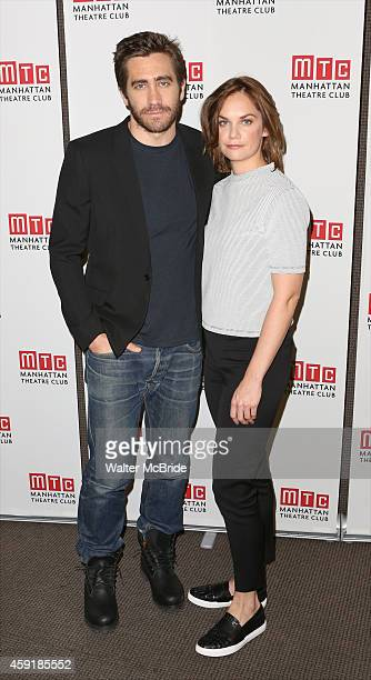Jake Gyllenhaal and Ruth Wilson attend the meet greet for the Manhattan Theatre Club production of 'Constellations' at the MCC Rehearsal Studios on...