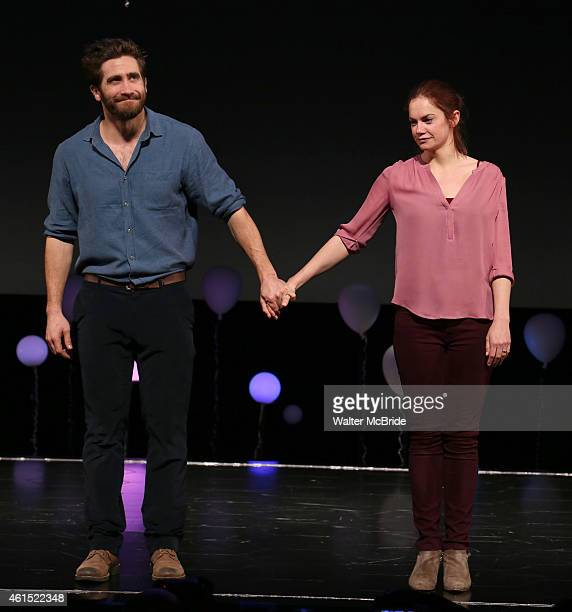 Jake Gyllenhaal and Ruth Wilson during the Broadway Opening Night Performance Curtain Call for The Manhattan Theatre Club's production of...