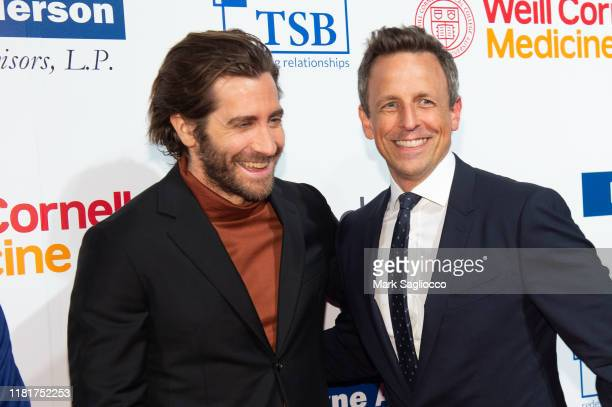 Jake Gyllenhaal and Seth Meyers attend the 7th Annual Headstrong Gala at Pier Sixty at Chelsea Piers on October 17 2019 in New York City