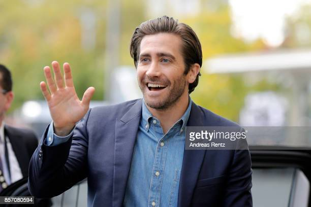 Jake Gyllenhaal arrives at the 'Stronger' press conference during the 13th Zurich Film Festival on October 3, 2017 in Zurich, Switzerland. The Zurich...