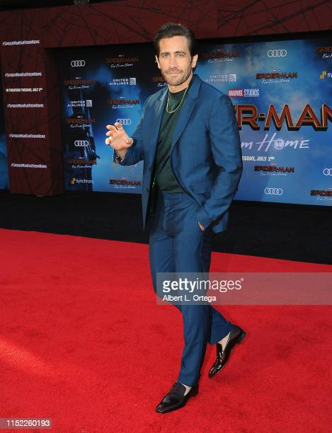 "Jake Gyllenhaal arrives for the Premiere Of Sony Pictures' ""Spider-Man Far From Home"" held at TCL Chinese Theatre on June 26, 2019 in Hollywood,..."