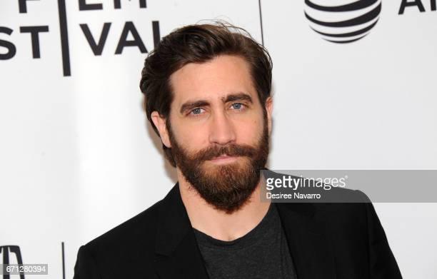 Jake Gyllenhaal attends 2017 Tribeca Film Festival 'Hondros' at Cinepolis Chelsea on April 21, 2017 in New York City.