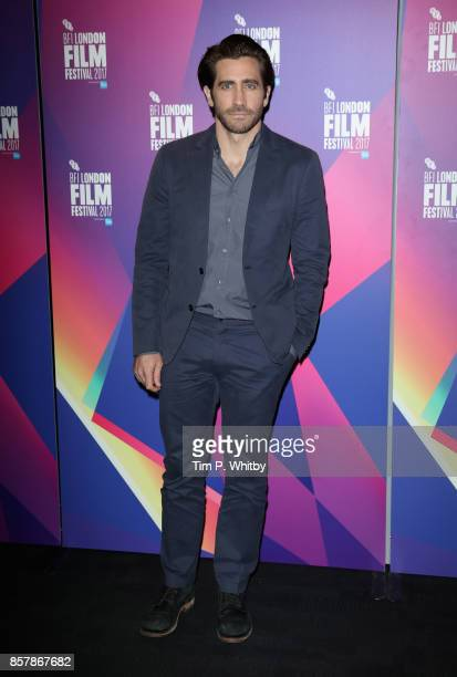 Jake Gyllenhaal attends a photocall ahead of the Stronger Screen Talk at the 61st BFI London Film Festival on October 5 2017 in London England