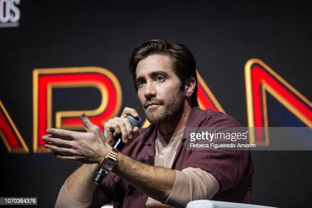 Jake Gyllenhaal attends a the Sony presentation during Comic Con Sao Paulo on December 8 2018 in Sao Paulo Brazil