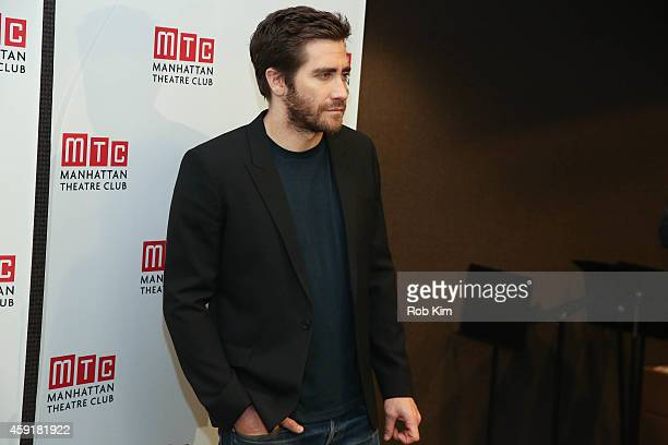 Jake Gyllenhaal attends Constellations Press Preview at Manhattan Theatre Club Rehearsal Studios on November 18 2014 in New York City